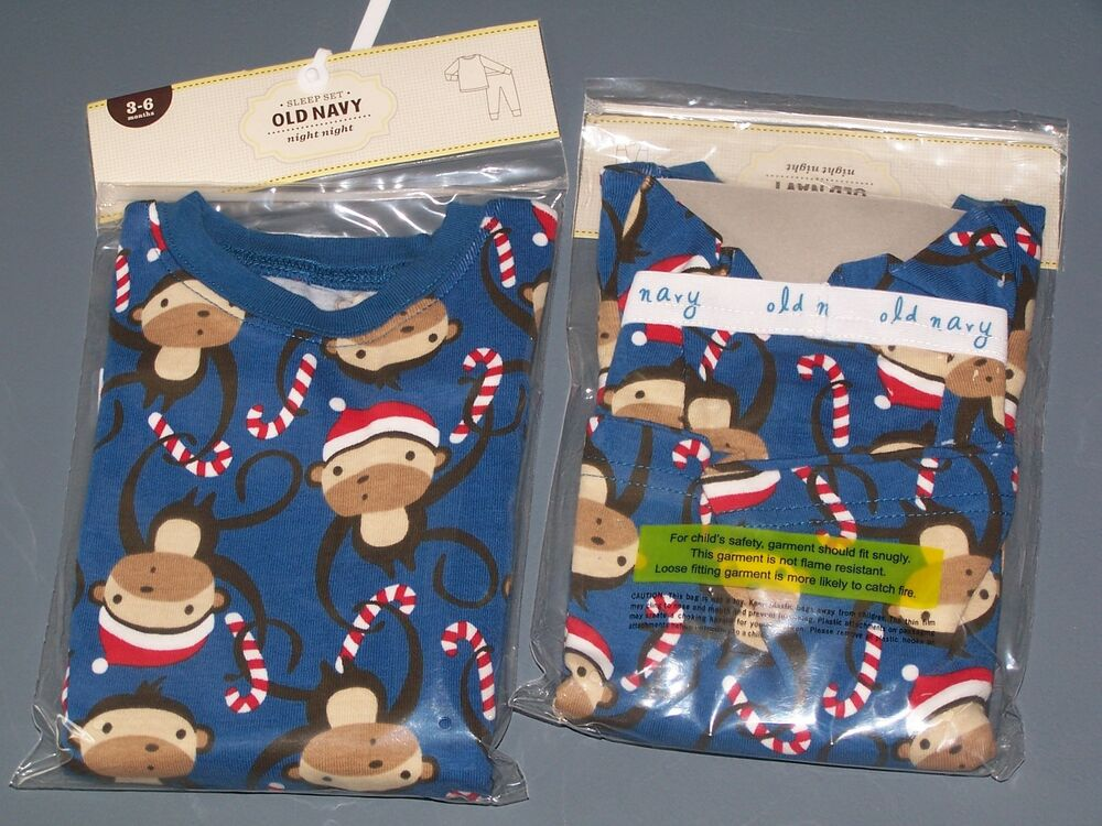Details about NWT OLD NAVY BLUE SANTA MONKEY CANDY CANE 2 PC PAJAMAS PJS 3-6  MO Free Shipping 4d2694997