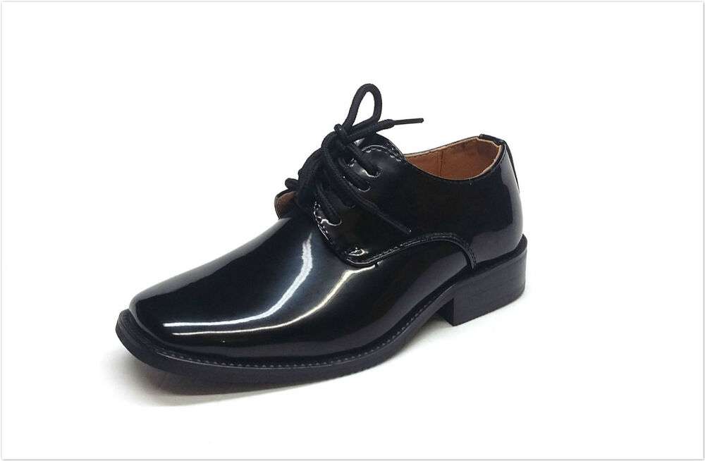 brand new boy s formal tuxedo dress shoes patent leather