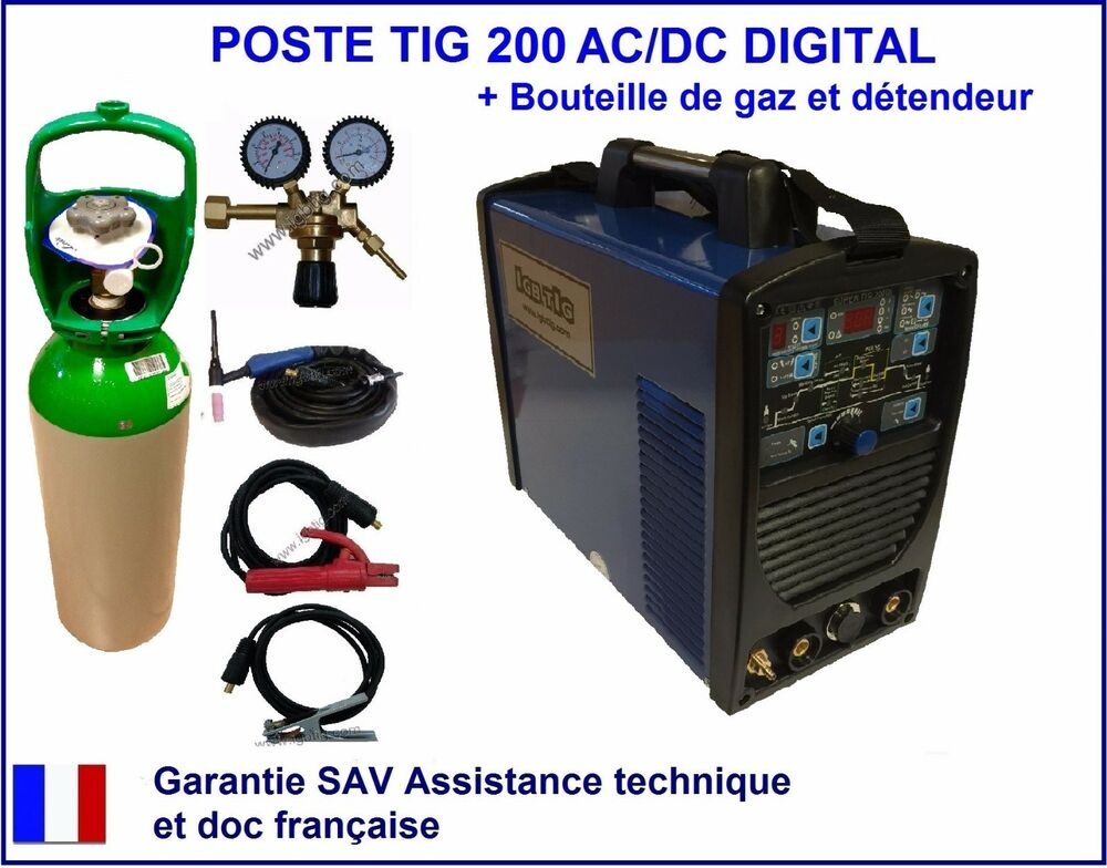 poste de soudure soudage tig 200 acdc digital hf inverter gaz argon d tendeur ebay. Black Bedroom Furniture Sets. Home Design Ideas