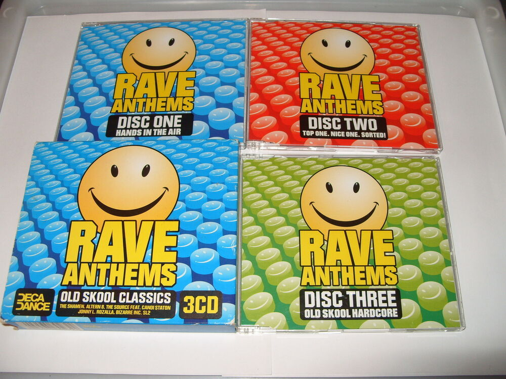 Rave anthems vol 1 old skool classics 3 cd 2002 for Old skool house classics list
