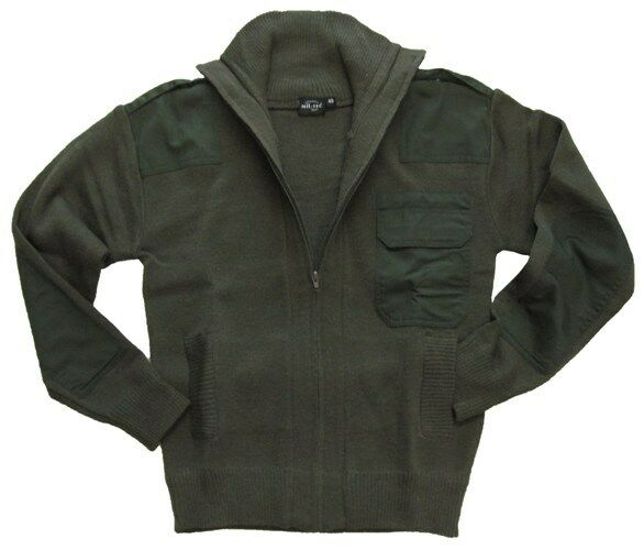 Olive Green Army Style Full Zip Cardigan All Sizes ...