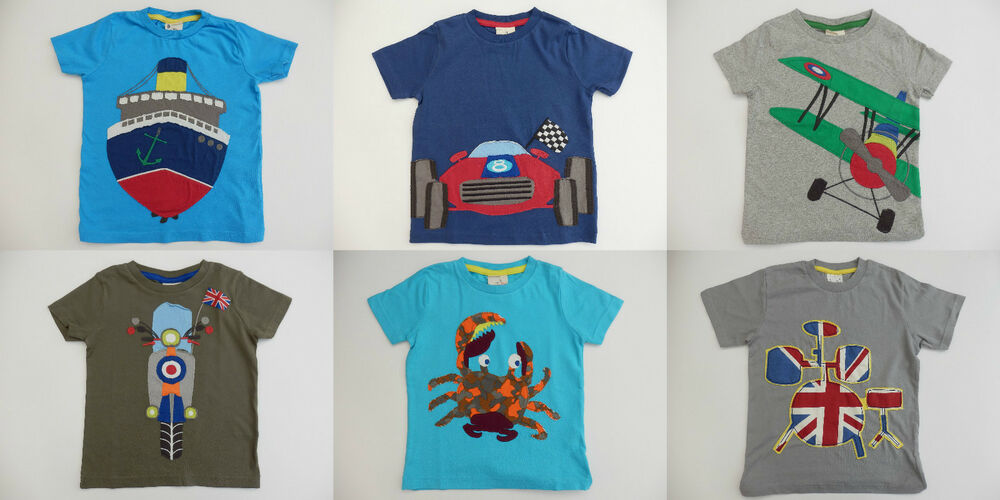 Mini boden applique short sleeved t shirt top various for Mini boden england