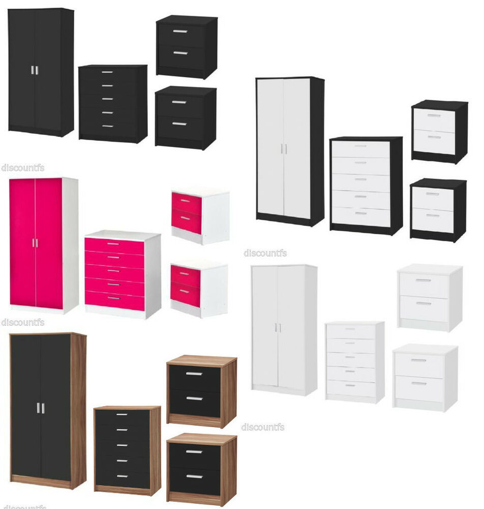 piece high gloss bedroom furniture set in 5 colour options ebay