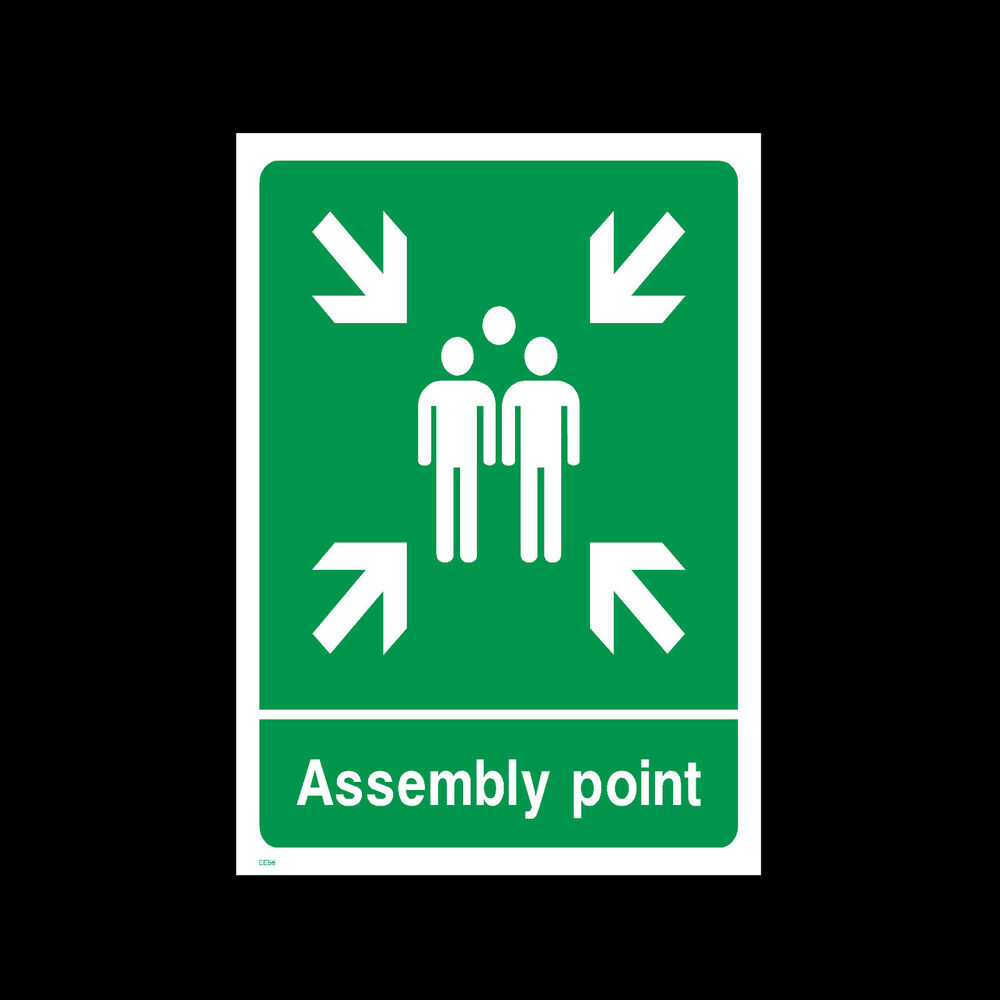 fire assembly point signs stickers all sizes all. Black Bedroom Furniture Sets. Home Design Ideas