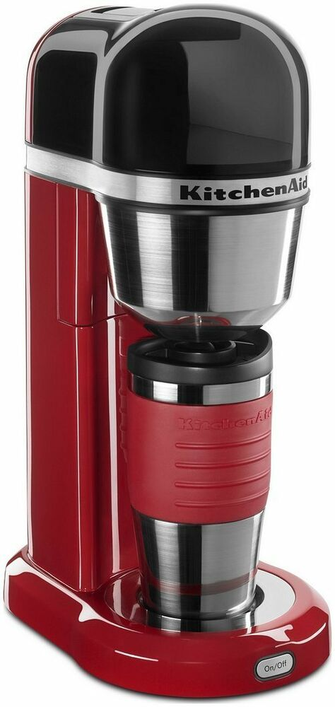 Kitchenaid Coffee Maker New : KitchenAid Personal Coffee Maker RR-kcm0402er Red included 18 oz thermal mug eBay