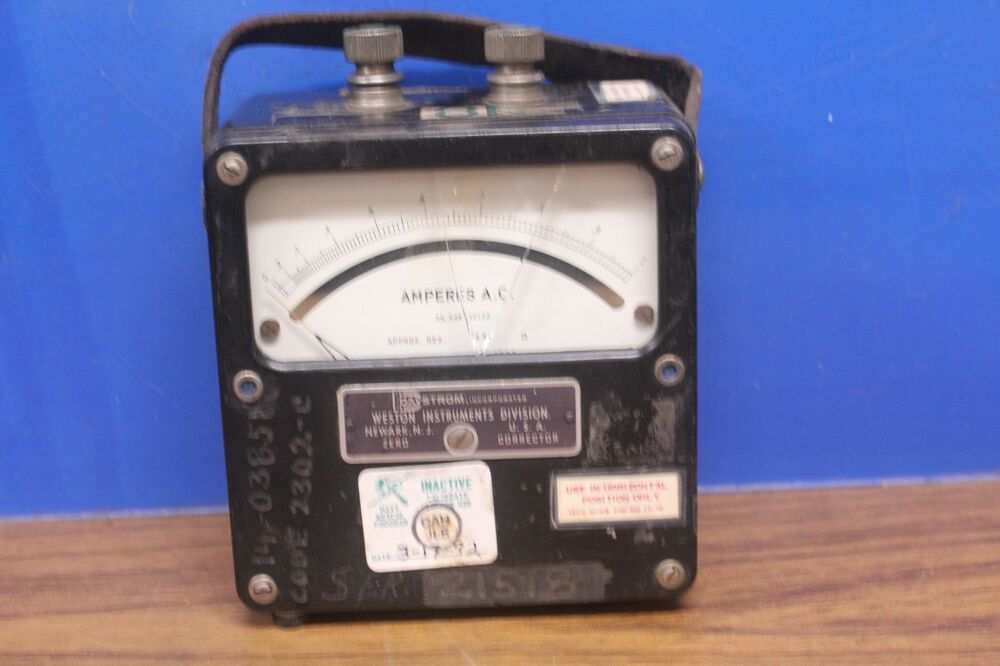 What Are Electrical Instruments : Vintage weston model amperes a c electrical