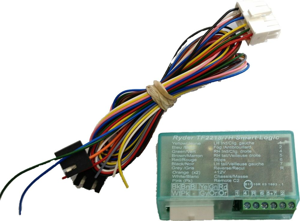 ryder smart logic 7-way bypass relay towing towbar multi ... ryder utility trailer lights wiring diagram ryder smart 7 bypass wiring diagram #2