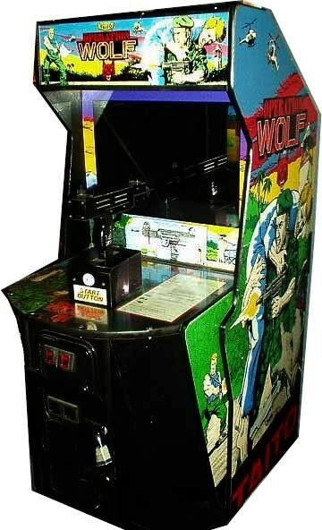 Operation Wolf Classic Arcade Game Machine Works Great