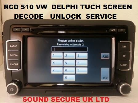 vw delphi rcd510 rcd 510 radio mp3 player tuch screen. Black Bedroom Furniture Sets. Home Design Ideas