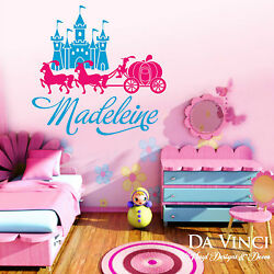 Personalized Custom Name Princess Castle Carriage Pony Vinyl Decal Sticker Wall