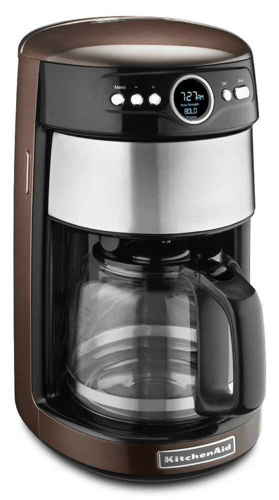 Kitchenaid Coffee Maker ~ Kitchenaid kcm es espresso brown color cup glass