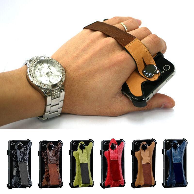 Apple iPhone 4 iPhone4S Leather Strap Hand Holder Case Premium Band NEULBO Cover | eBay