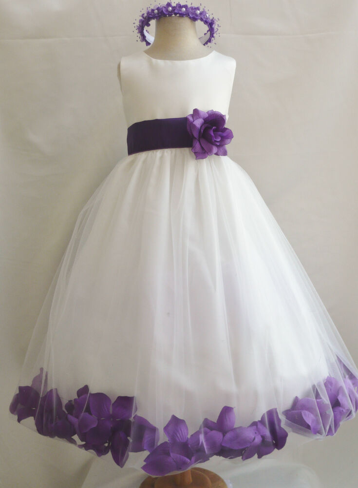 IVORY/PURPLE LAPIS BABY TODDLER WEDDING PARTY DANCING ...