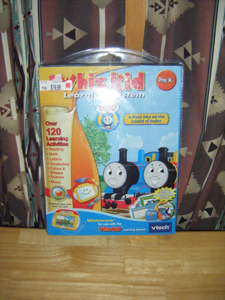 Kids VTech WHIZ KID Learning System WHAZZWARE Thomas & Friends ...