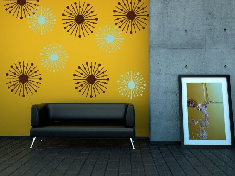 Star Wall Decor Ideas: Atomic Starburst, College Dorm Decorations, Mid Century