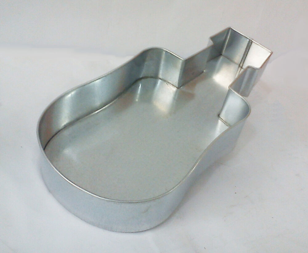 Guitar Shaped Birthday Novelty Baking Cake Tin Ebay