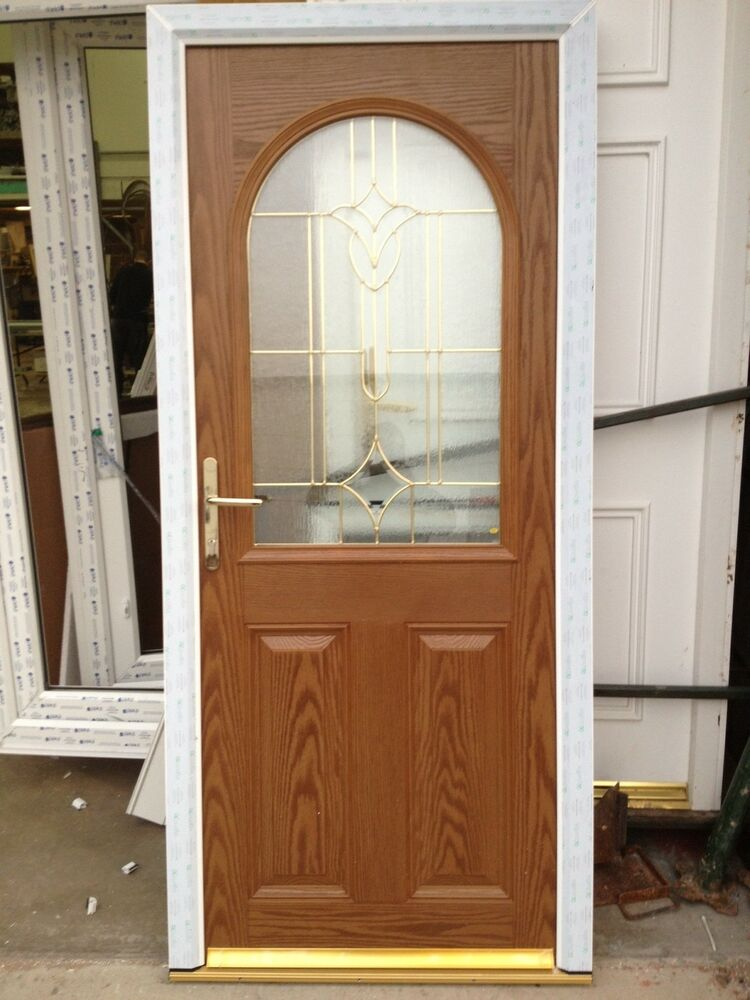 Composite Front Door Golden Oak Composite Elegance