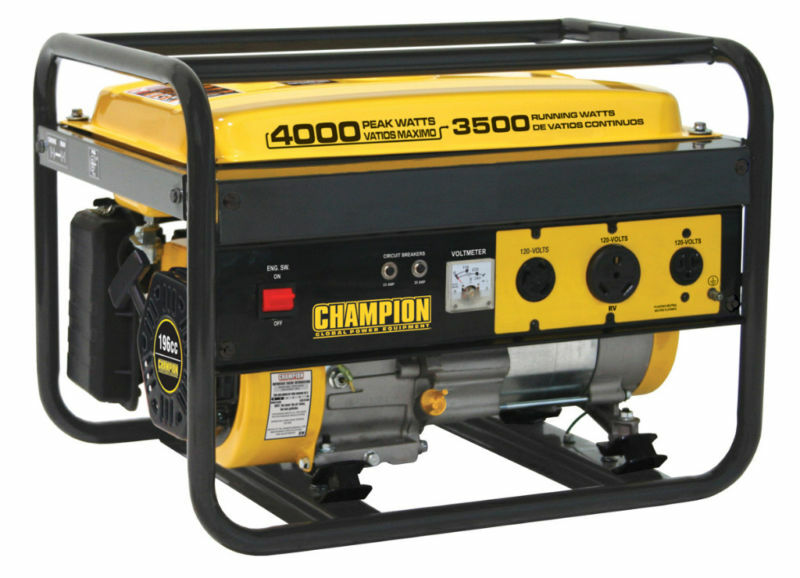 New Champion 4000 Watt Gas Portable Gasoline Generator Ebay