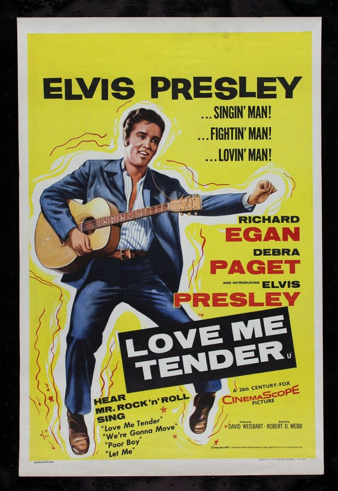 LOVE ME TENDER * CineMasterpieces ELVIS PRESLEY UK ...