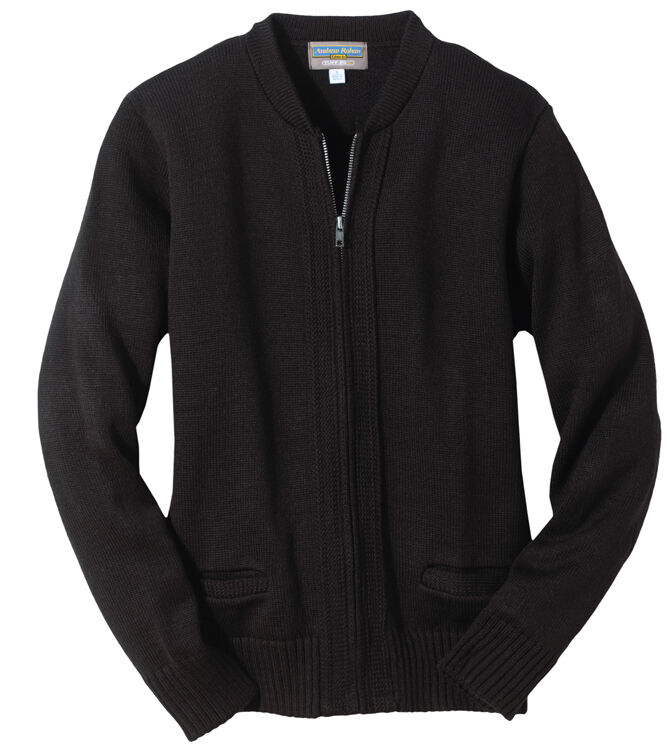 Mens Zip Cardigan With Pockets - Cashmere Sweater England