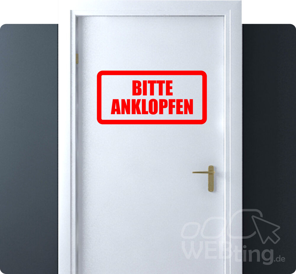 bis 60cm anklopfen exit hinweis schild aufkleber sticker tattoo t r ebay. Black Bedroom Furniture Sets. Home Design Ideas