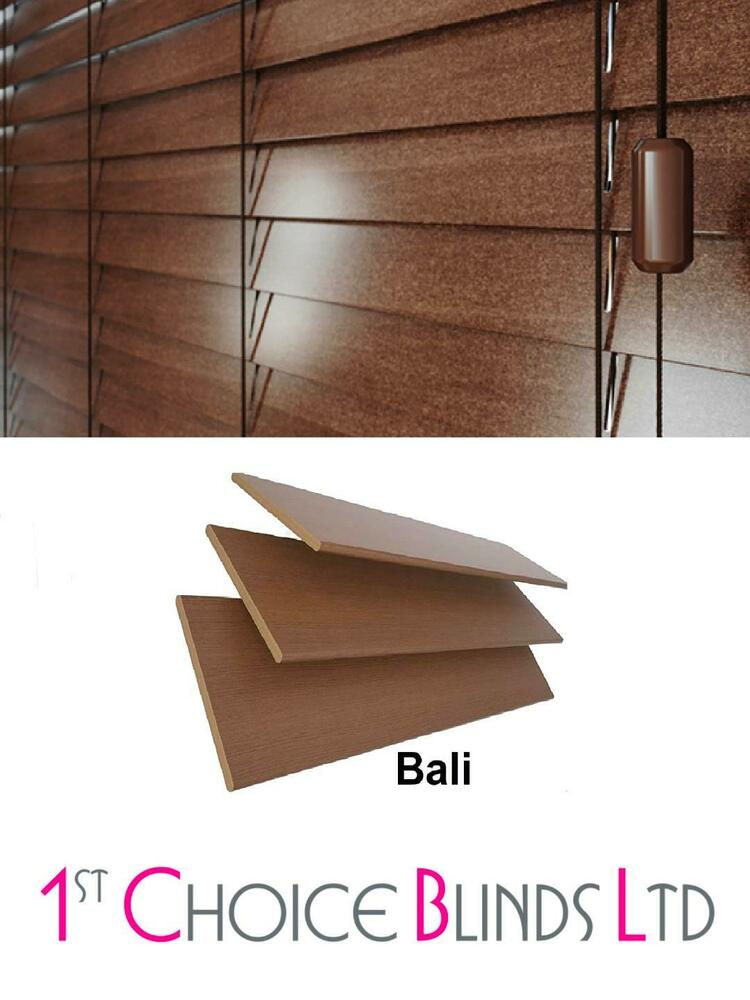 Made To Measure Wooden Venetian Blind Walnut Bali Real