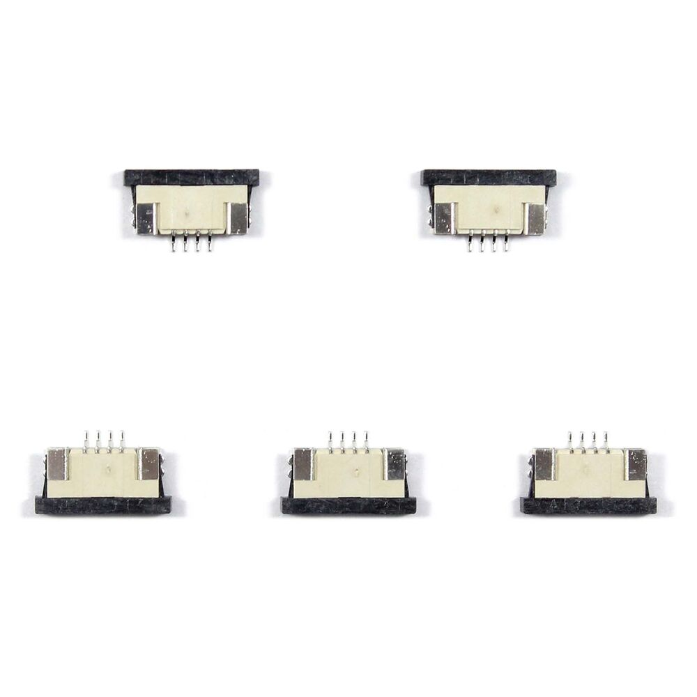 5pcs Ffc Fpc Connector 4pin Pitch 1 0mm Bottom Contact Ebay