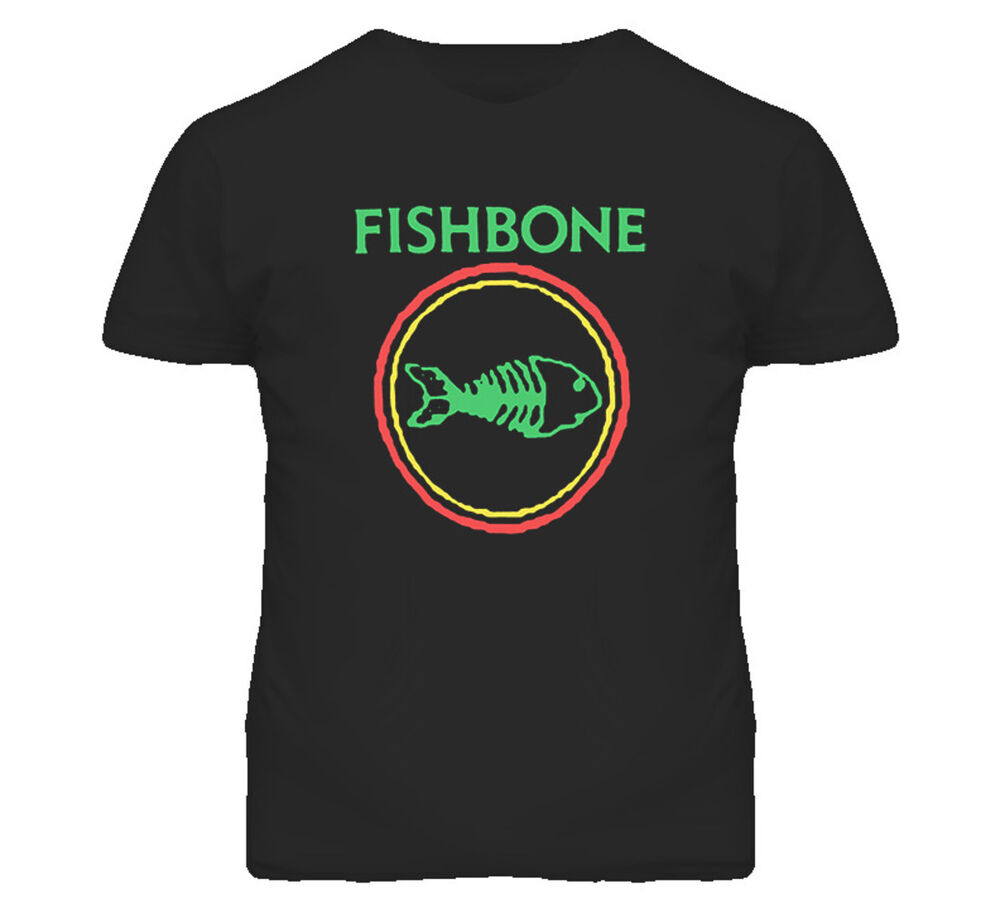 Fishbone retro punk rock and roll band fish bone t shirt for Rock and roll shirt shop