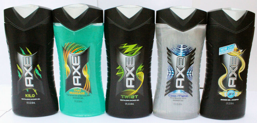 3 Axe Shower Gel Body Wash Selection Jet Cool Metal