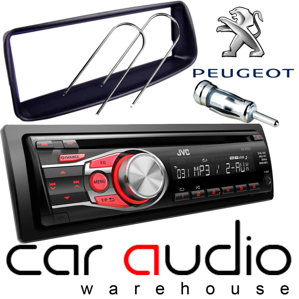 peugeot 206 jvc cd mp3 aux in car stereo radio player. Black Bedroom Furniture Sets. Home Design Ideas