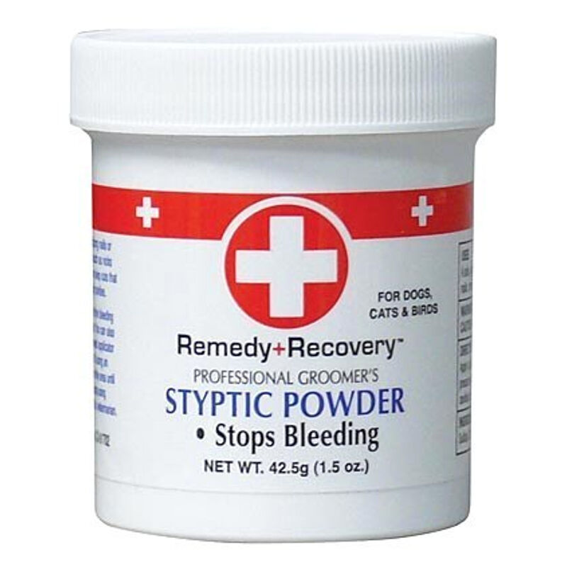 remedy recovery 1 5 oz styptic powder fast quick stop dog