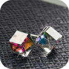 18k white gold gp made with SWAROVSKI crystal wedding party stud earrings