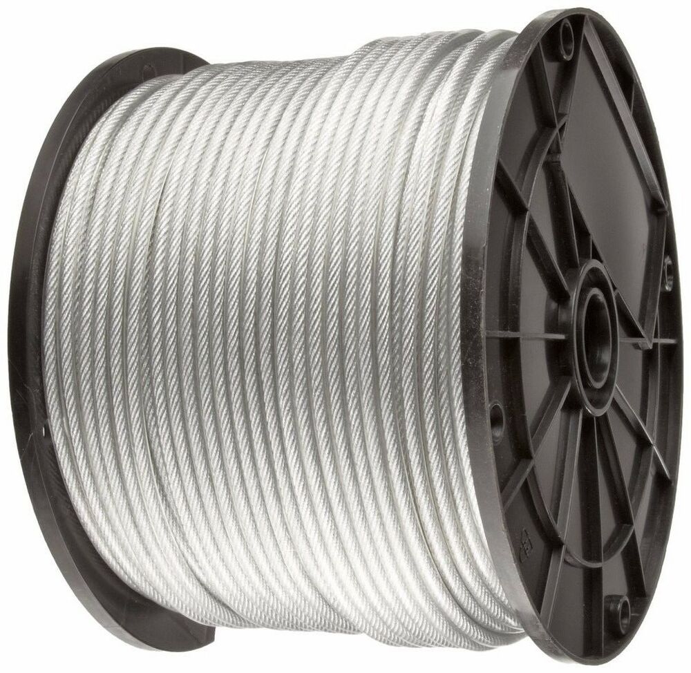 Clear Vinyl Coated Wire Rope Cable 3 64 Quot 1 16 Quot 7x7