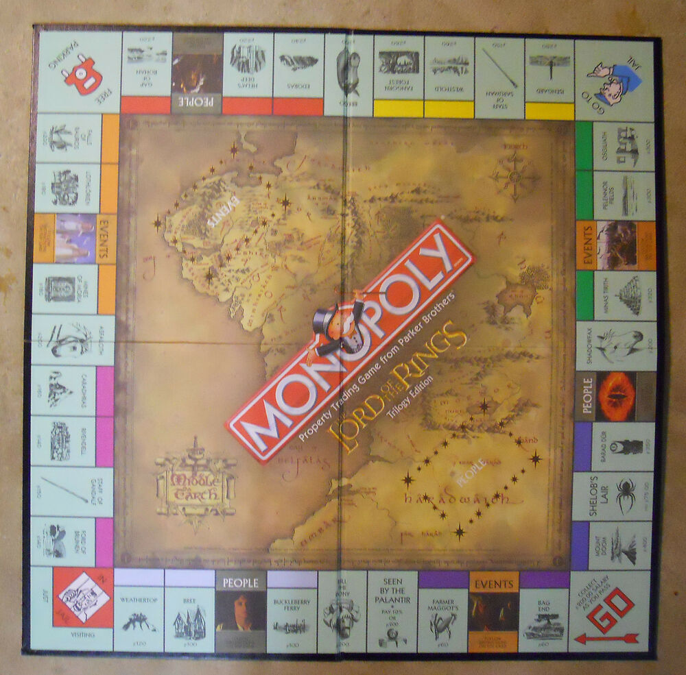 Monopoly Lord Of The Rings Ebay