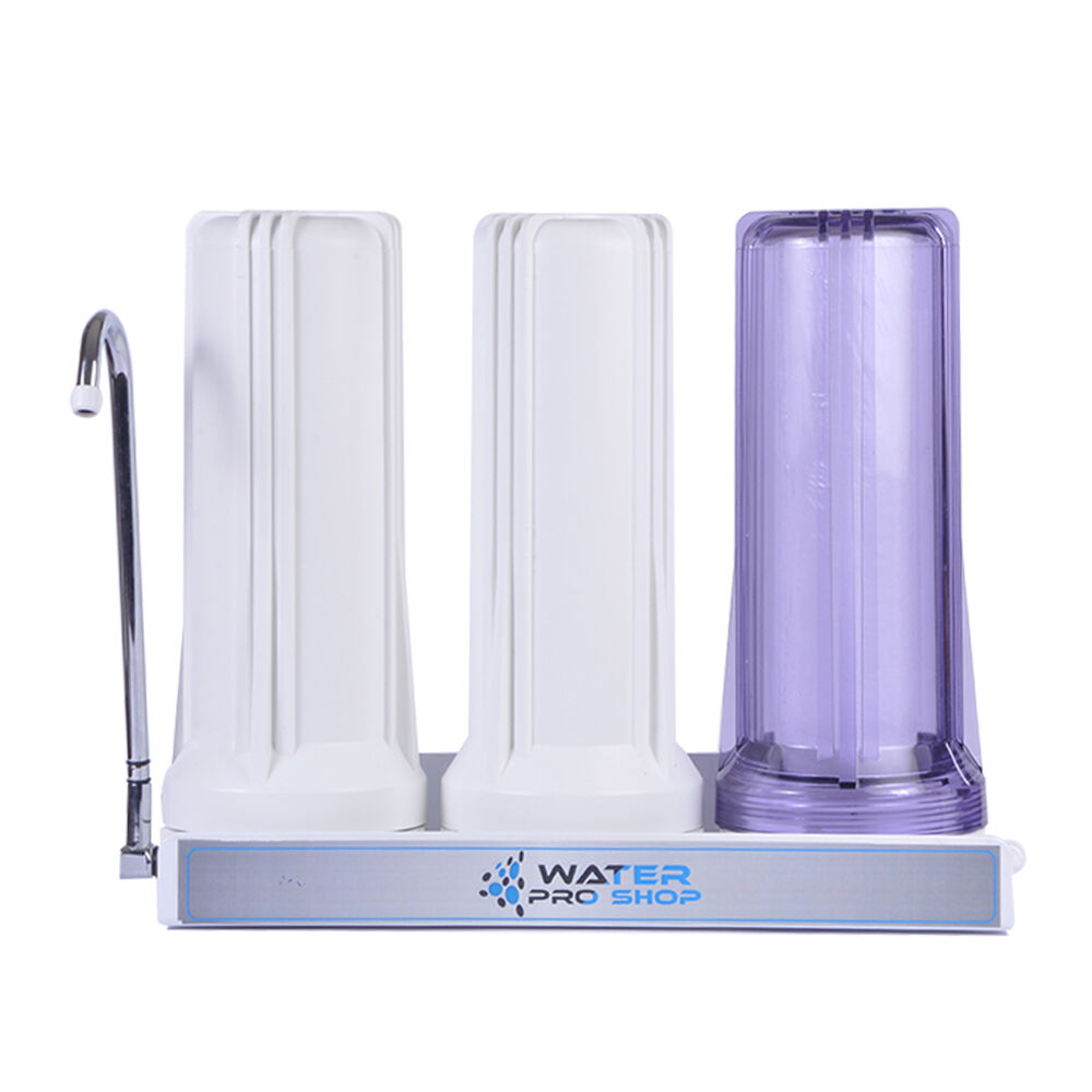 Counter Top 3 Stages Drinking Water Filter System White Or