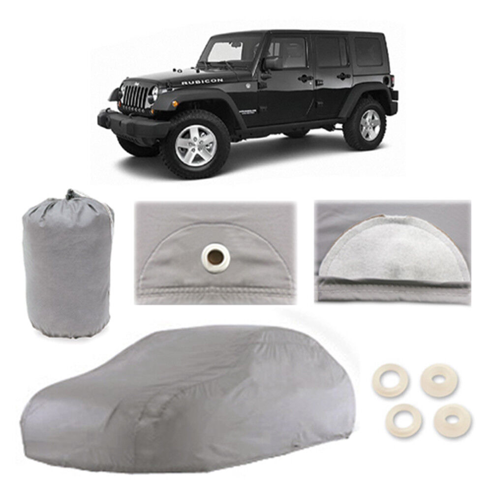 jeep wrangler 5 layer car cover fitted water proof outdoor rain snow sun dust ebay. Black Bedroom Furniture Sets. Home Design Ideas