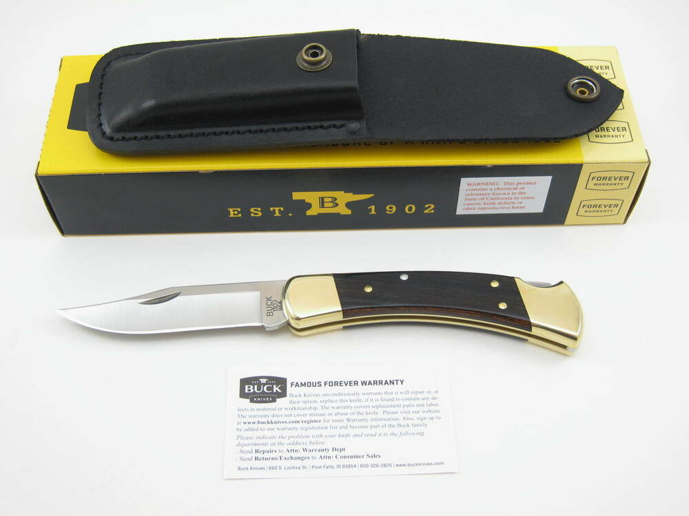 BUCK 110BRS 110 FOLDING HUNTER LOCKBACK KNIFE & BLACK ...