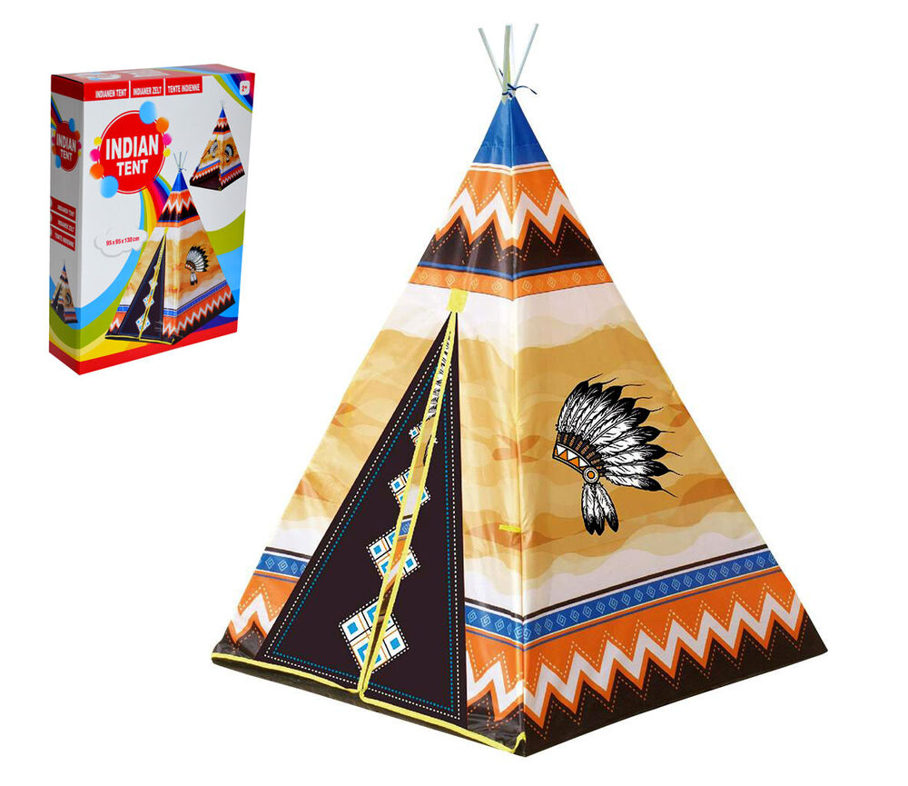 indianer zelt spielzelt wigwam kinderzelt tipi kinder zelt neu ebay. Black Bedroom Furniture Sets. Home Design Ideas