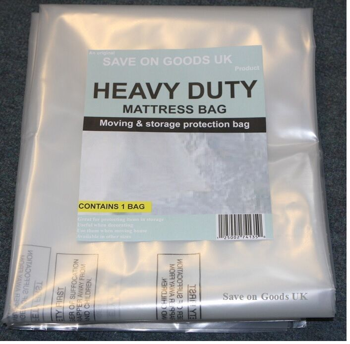 HEAVY DUTY Mattress storage polythene plastic bag. Thick ...