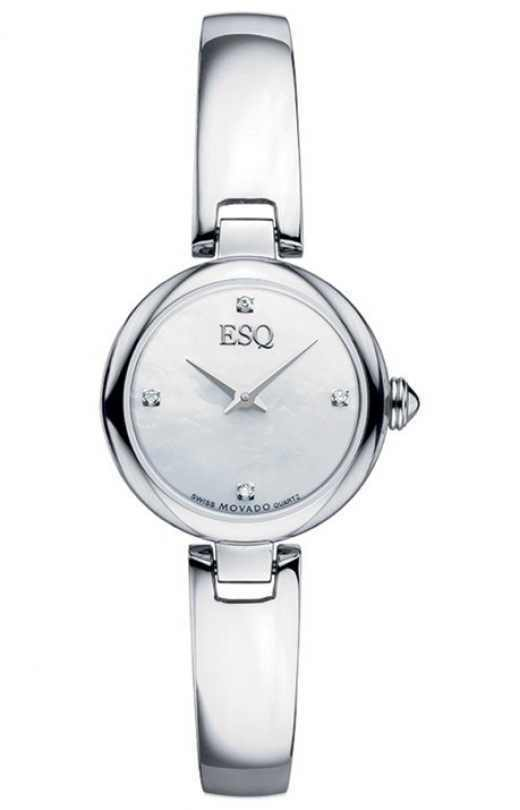 new esq by movado womens intrigue watch stainless steel. Black Bedroom Furniture Sets. Home Design Ideas