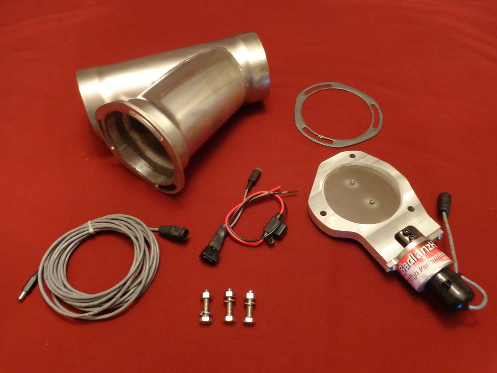"""NEW Electric Exhaust Cutout BadlanzHPE /""""Y-Neck/"""" SINGLE 3.0/"""" 76mm SS  5 YR WTY!"""