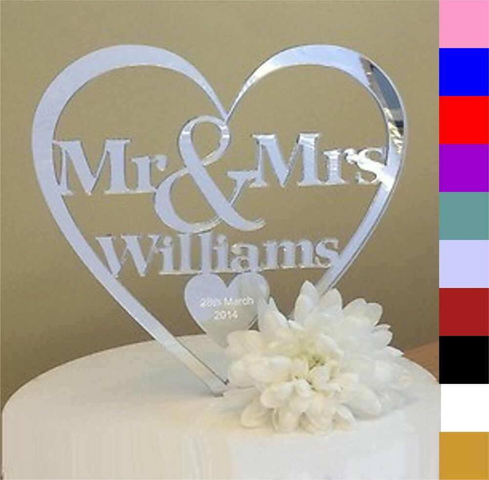 Personalised Glass Cake Toppers Uk