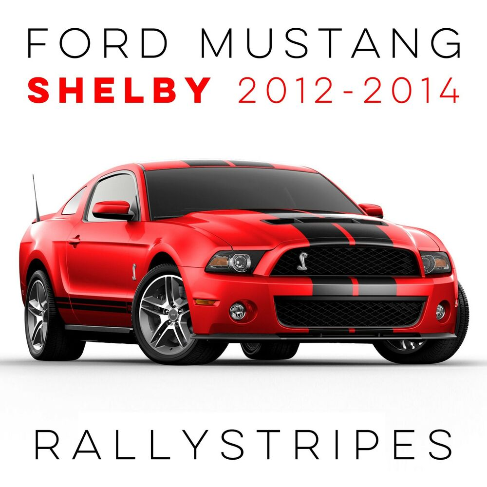 2013 Ford Mustang SHELBY Decal Kit Rally Stripes Pre Cut