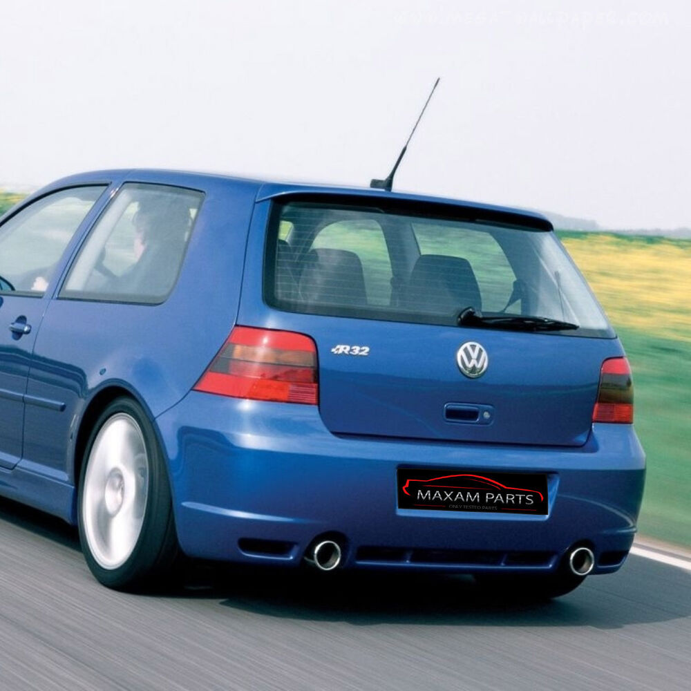 vw golf mk4 4 iv rear bumper r32 look abs new ebay. Black Bedroom Furniture Sets. Home Design Ideas
