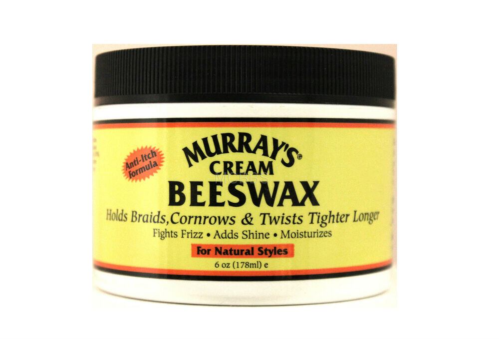 MURRAYS CREAM BEESWAX FOR BRAIDS CORNROWS LOCKS AND TWISTS 6 OZ