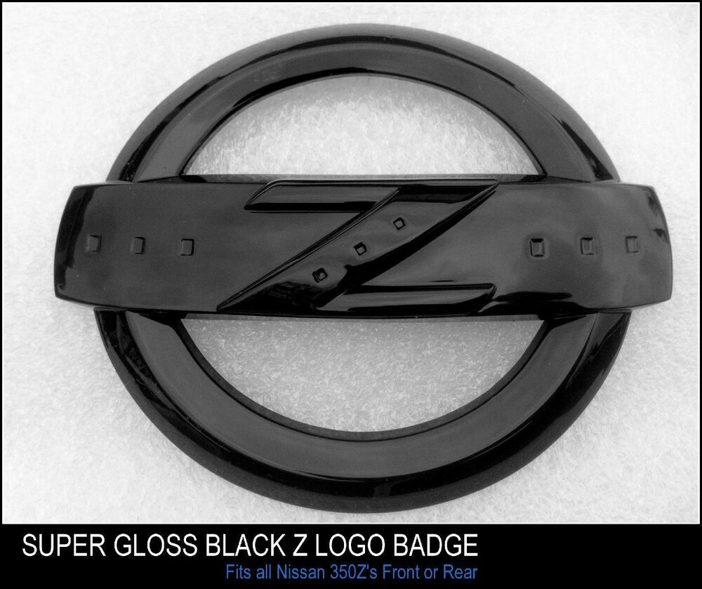 350Z SUPER HIGH GLOSS BLACK Z LOGO BADGE EMBLEM FOR 350 Z