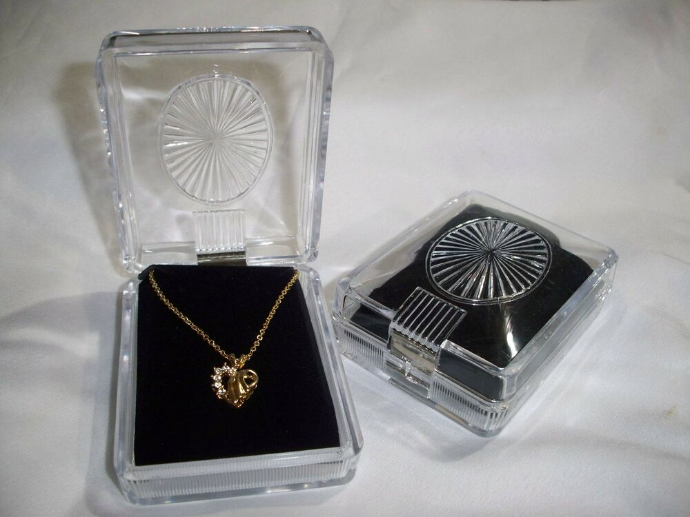 clear display style showcase jewelry gift box fits