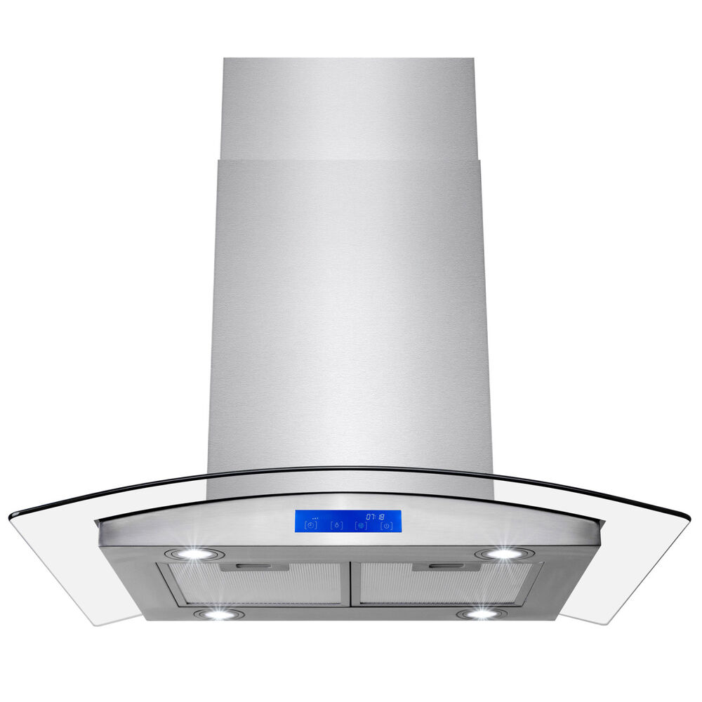 """KITCHEN 30"""" STAINLESS STEEL ISLAND MOUNT DUCTLESS/VENTLESS"""