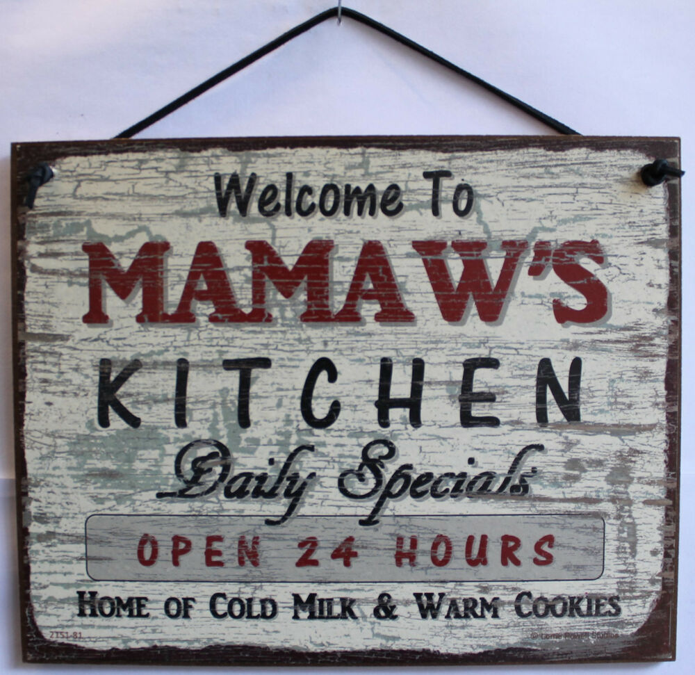 Mamaw S Sign Kitchen Food Cooking Bake Grandma Cookies