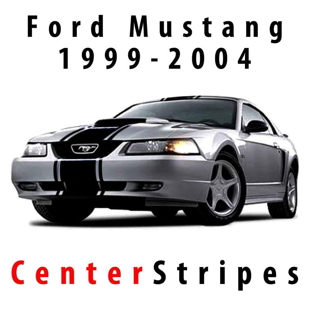 Ford Cobra Truck 2017 >> Ford Mustang GT Center Rally Racing Stripes 99-2004 Decal Set Pre-cut | eBay